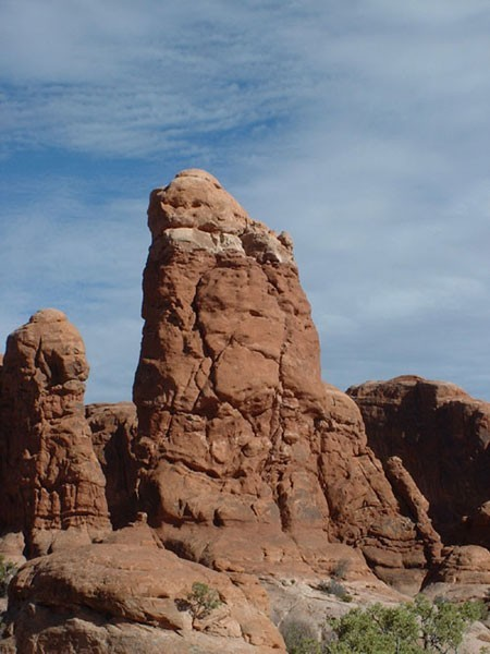 Owl Rock as seen from the parking area.