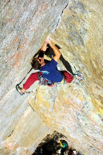 Chris Van Leuven on Hand Book, 5.11c, North Whiz Dome, Tuolumne Meadow...