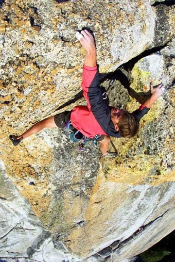 Blown Away, a new 5.9, 5 star route on Daff Dome, Tuolumne, Yosemite