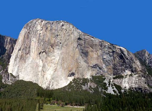 Panoramic photo of El Capitan, 5 images stitched together showing all ...