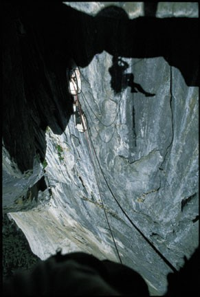 Looking back into the Black Cave.