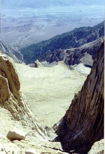 Looking down the Mountaineers Route in early summer conditions. As you...