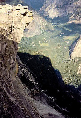 The shadow of Half Dome.
