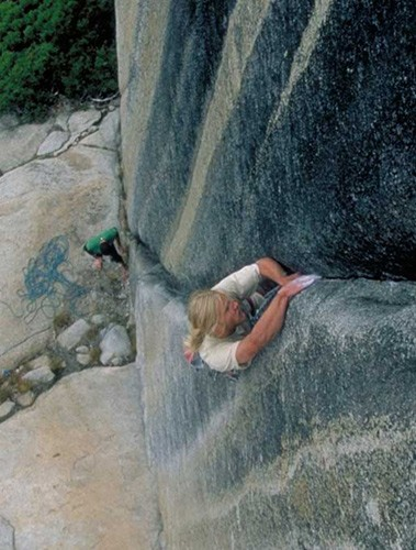 Sean Kriletich on Lord Caffeine (5.10d), Olmstead Canyon.