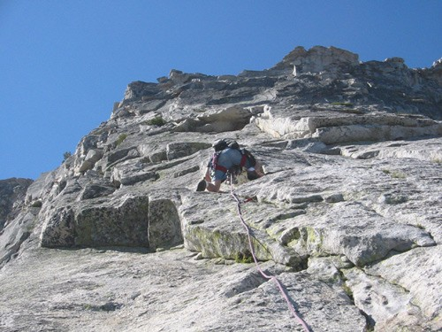 Dave Loring on Tenaya Peak.