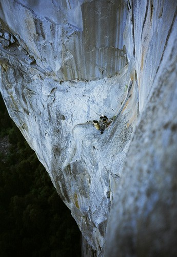 An interesting view of Guano and Ahwahnee ledges on Pitch 6.