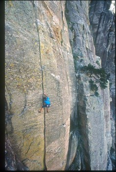 Dan McQuade, Pitch 4, Cloud Tower, 5.11d.