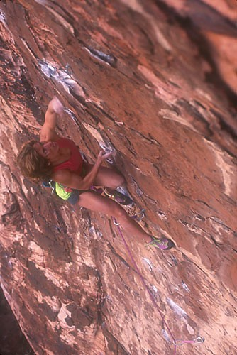 Lynn Hill, Red Skies, 5.11+, The Fixx Cliff