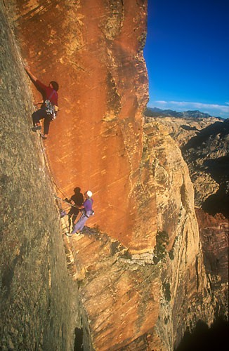 Dan McQuade and Will Gove, pitch 11, Original Route, Rainbow Wall, 5.1...