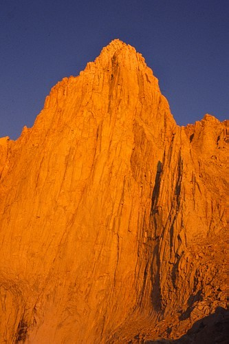 Mt. Whitney at sunrise.