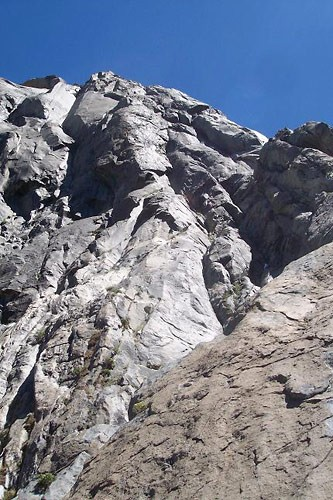 Looking up from pitch 5 of East Buttress Of El Cap