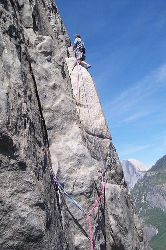 The Pitch 10 traverse of East Buttress Of El Cap