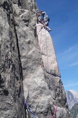 Pitch 10 traverse of East Buttress Of El Cap