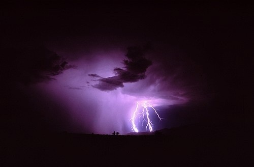 Lightning storm near Bishop in July of 2003