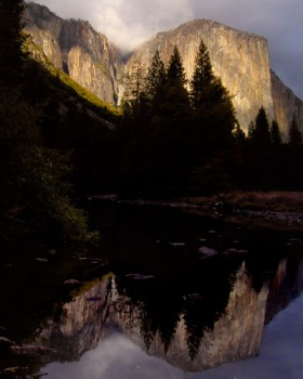 El Capitan, Southwest face reflected in Merced River