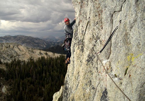 Bill Walsh leading the last pitch of Oz in Tuolumne Meadows during a t...