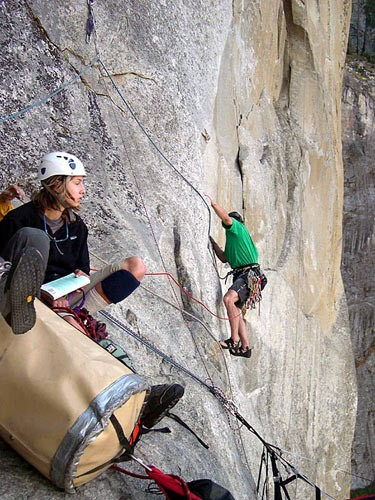 Chris Van Leuven leading pitch 3. (12a)