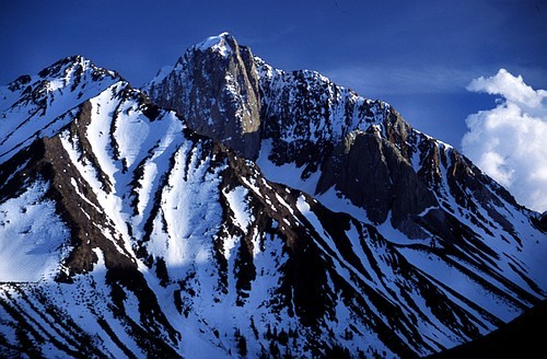Mt. Morrison looms above Convict Lake in the eastern Sierra.