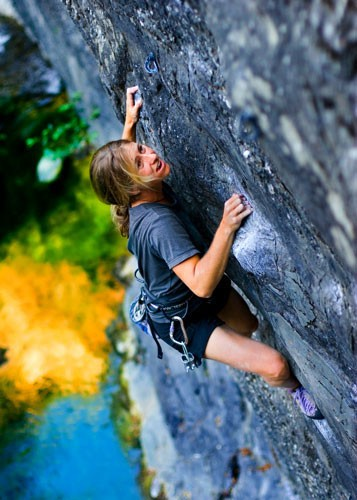 Alicia Allison, Danger Boy, 5.11a in Wheeler Gorge, Ojai, Calif.