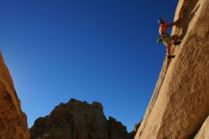 Chis Werner, unnamed 5.8 in Joshua Tree, Calif.