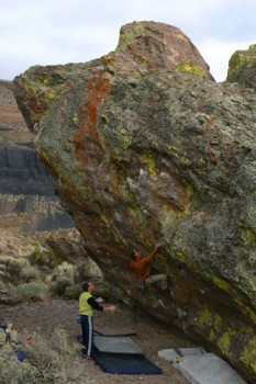 Frank Lucido on the ultra-mega-classic Wasabe (V7) at the Wash...