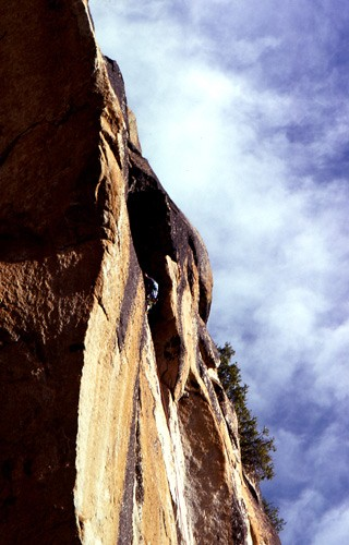 Warren Harding on the first ascent of The Menehune Wall 5.8, A3, Yosem...