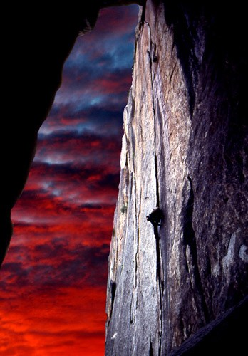 Grant Hiskis on Outer Limits 5.10, Cookie Cliff, Yosemite 1986.
