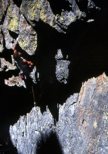 "Jay Smith on the first ascent of ""Metallica"" 5.11b. Shakespear Rock, L..."