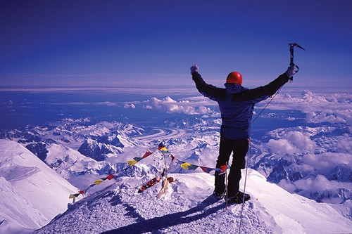 On the Summit of Denali.  (Photo: Joseph Puryear Collection)