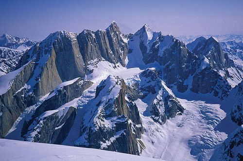 The great and mighty Tooth Peaks as seen from the summit of Mt. Dickey...