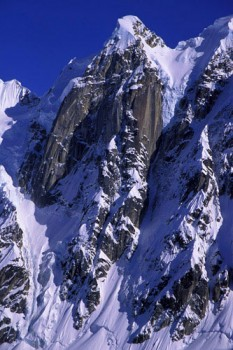 The North Buttress of the Rooster Comb.  The route climbs up the narro...