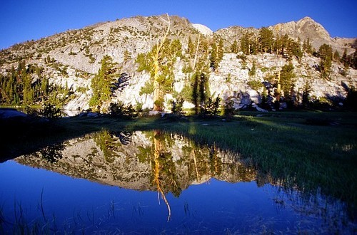 Lower Graveyard Lake reflection, Ansel Adams Wilderness.