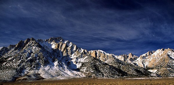 Mt. Whitney and Lone Pine Peak, January 7, 2006.