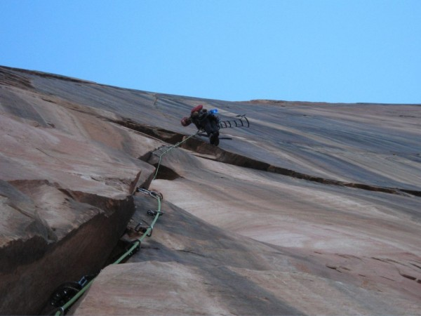Ammon McNeely on the third pitch of Rodeo Queen, Streaked Wall, Zion N...
