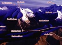 Mount Brooks - North Ridge III, 65-degree snow or ice - Alaska, USA. Click to Enlarge