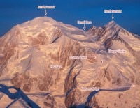 Denali - Muldrow Glacier Alaska Grade 2, 40-degree snow - Alaska, USA. Click to Enlarge