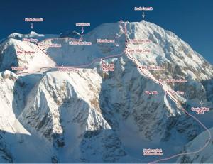 Denali - West Rib Alaska Grade IV, 60-degree ice - Alaska, USA. Click to Enlarge