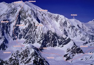 Mount Foraker - Infinite Spur Alaska Grade 6, 5.9, M5, AI 4 - Alaska, USA. Click to Enlarge