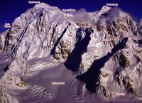 Mount Hunter - West Ridge Alaska Grade 4, 5.8, AI 3 - Alaska, USA. Click to Enlarge