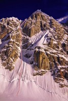 Mini-Moonflower - North Couloir IV, 85-degree ice - Alaska, USA. Click to Enlarge