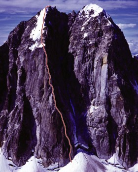 The Royal Tower - Gargoyle Buttress IV, 5.10a - Alaska, USA. Click to Enlarge