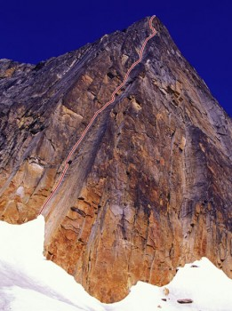 The Stump - Goldfinger IV, 5.11a - Alaska, USA. Click to Enlarge