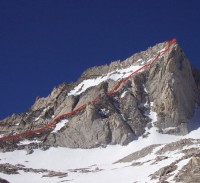 Bear Creek Spire - Northeast Ridge 5.5 - High Sierra, California USA. Click to Enlarge