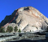 Charlotte Dome - South Face 5.8 - High Sierra, California USA. Click to Enlarge