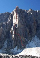 Mt. Goode - North Buttress 5.9 - High Sierra, California USA. Click to Enlarge