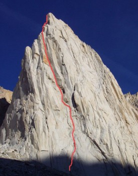 Incredible Hulk - Sun Spot Dihedral 5.11b - High Sierra, California USA. Click to Enlarge