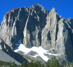 Temple Crag - Venusian Blind 5.7 - High Sierra, California USA. Click to Enlarge