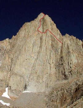 Mt. Whitney - East Face 5.7 - High Sierra, California USA. Click to Enlarge