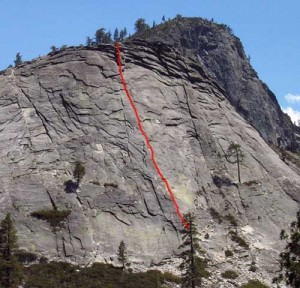 Lover's Leap, Hogsback - Deception Direct 5.9 - Lake Tahoe, California, USA. Click to Enlarge