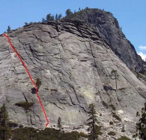 Lover's Leap, Hogsback - Knapsack Crack 5.5 - Lake Tahoe, California, USA. Click to Enlarge